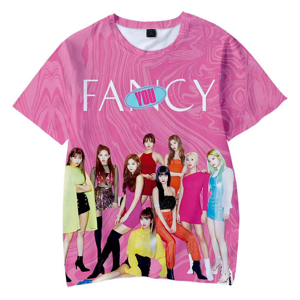 BTS 2019 TWICE New album FANCY YOU 3D t-shirts Boy/girl Children s wear  Casual t shirts Short Sleeve hot sale Clothes