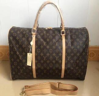 f36e4b9c3228 Louis Vuitton Supreme Luggage Bags Men Leather Handbags MICHAEL V99 KOR  Shoulder Bags Women Top Travel Bags Tote Have Kock KEEPALL 55cm 41414 MK AJ  LV LVs ...