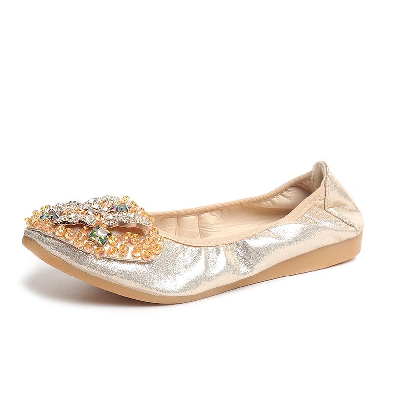 b5f5aa487 Rhinestone Flats Women Shoes Woman Leisure Spring Butterfly Ballerina Bling  Ladies Shoes Female Soft Shiny Crystal Casual Oxford Shoes Tennis Shoes  From ...