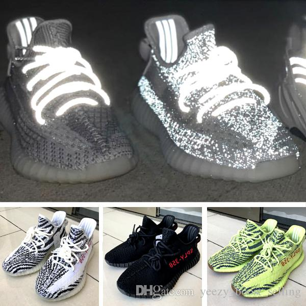4164389167db6 New Version-Boosts 350 V2 Sesame Static Reflective Sply 350 Kanye ...