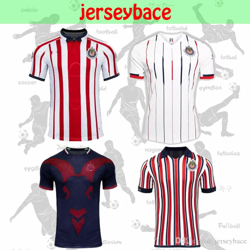 6cb85b93d 2019 New 2018 Chivas De Guadalajara Soccer Jersey Thai Quality A.PULIDO  Home Away Third World Cup O.PINEDA E.LOPEZ I.BRIZUELA Man Football Shirt  From ...