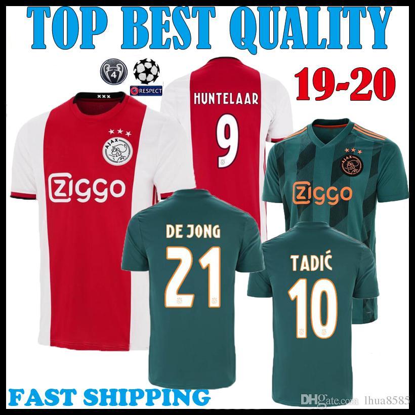 e791c0fa2 2019 2019 2020 Ajax Home Away Soccer Jersey DE JONG DE LIGT VAN DE BEEK  NERES 19 20 Ajax TADIC ZIYECH Thailand Quality Football Shirt Uniform From  Lhua8585