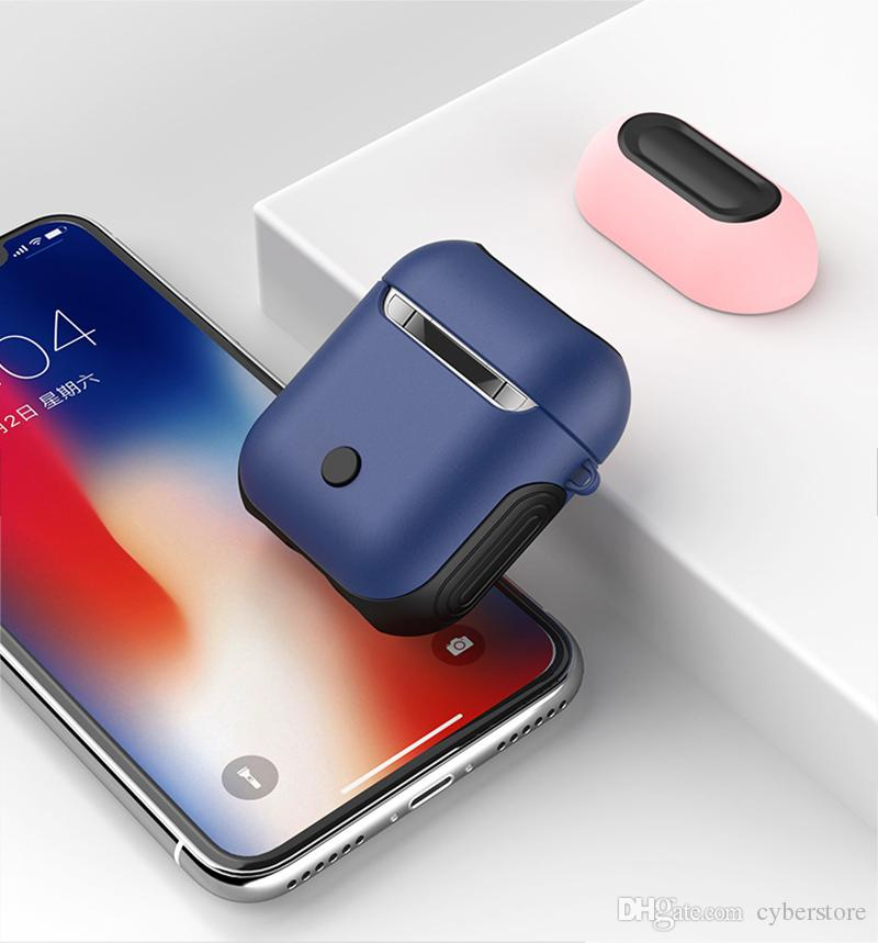 4c6e3f4c092 2019 For AirPods Case Portable Soft TPU Silicone Hard PC Hybrid Shock  Resistant Protective Cases Skin For Apple AirPods Charging Case From  Vipacc, ...