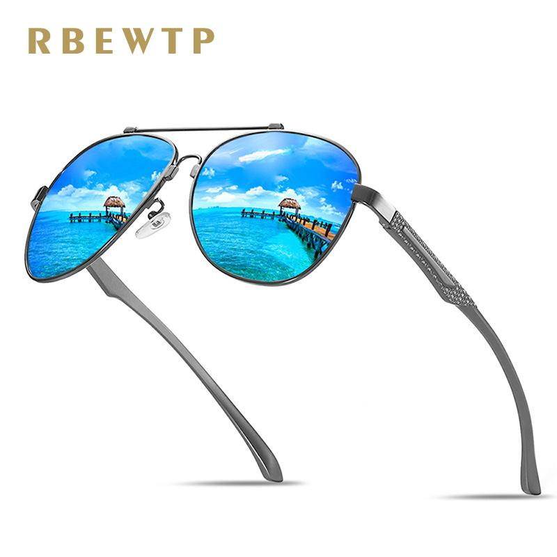 9ed4d3700 Compre RBEWTP 2018 Nova Memória De Metal Dos Homens Óculos De Sol  Polarizados Condução Óculos De Sol Oculos Masculinos Eyewear Acessórios  Homens / Mulheres ...