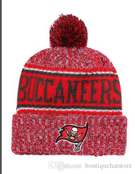 f4f033a9 Top Quality Brand Buccaneers Street Hip Hop Beanies with Funny Pom ...