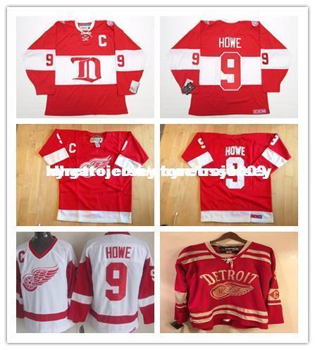 online store bd309 63f12 Cheap custom GORDIE HOWE DETROIT RED WINGS ALUMNI VINTAGE/CCM 2014 HOCKEY  JERSEY Personalized customization Men's Retro ice Hockey jersey