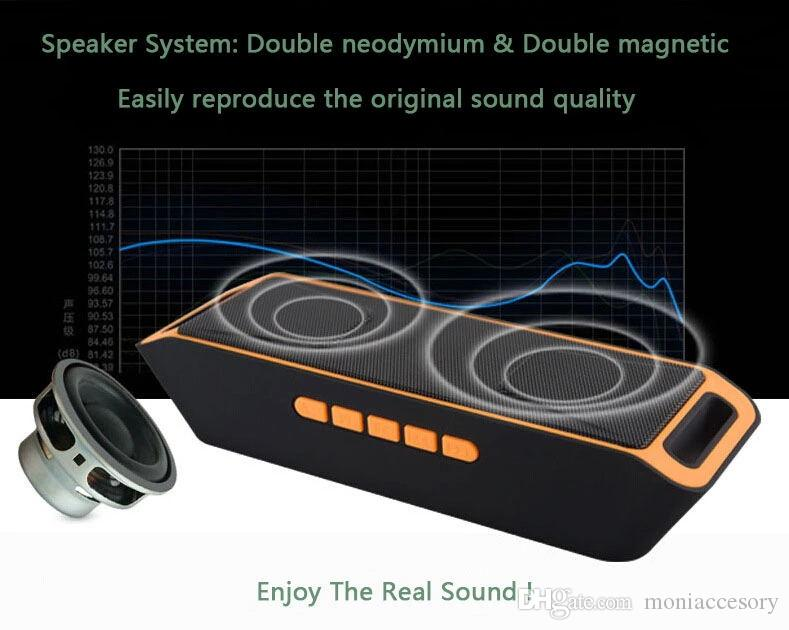 Portable Square Speaker Column HD Stereo Bass Wireless Bluetooth Speaker With Mic woofer FM Radio/USB MP3 Player