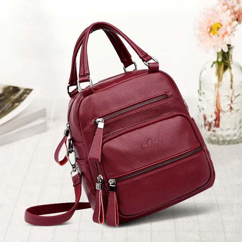 6ec0c934e2 Shoulder Genuine Leather Women S Handbags Cowhide Leather Shoulder  CrossBody Bags Ladies Fashion Patchwork Women Bags Bolsas Feminina  Overnight Bags For ...