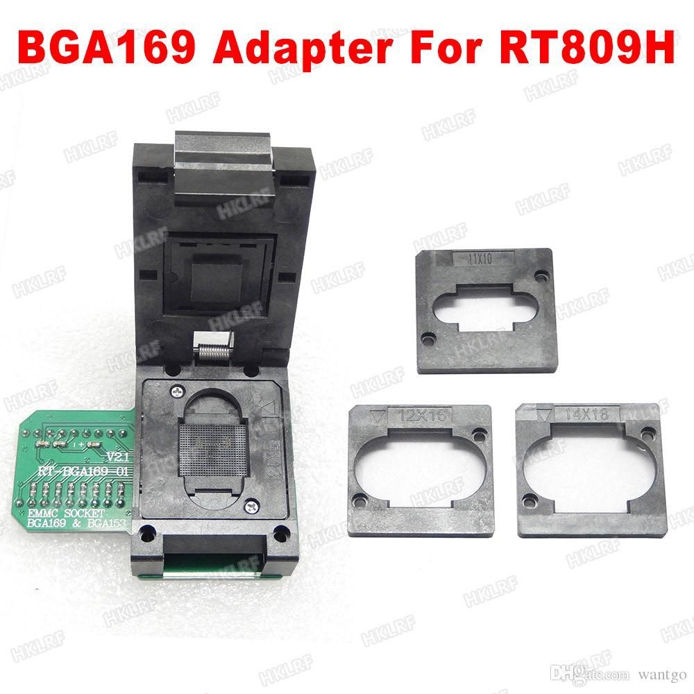 RT-BGA169-01 BGA169 / BGA153 EMMC Adapter V2 1 With 3pcs BGA bounding box  For RT809H Programmer freeshipping