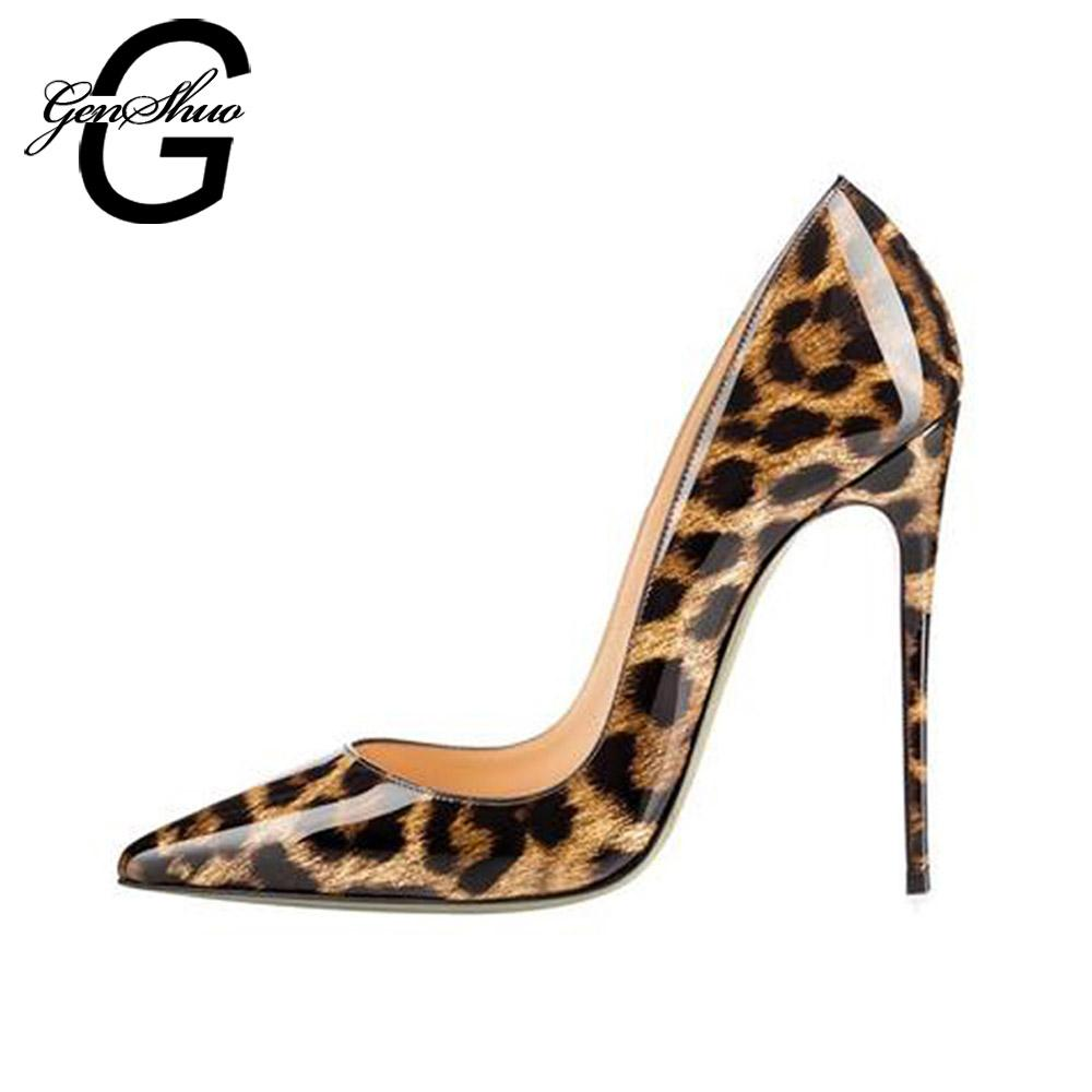 29e5caf6156 High Heels Shoes Women Leopard Print Sexy Pointy Toe Stilettos Women Pumps  10 12cm Party Heeled Designer Shoes Plus Size 11 12 Mens Boat Shoes Loafers  For ...