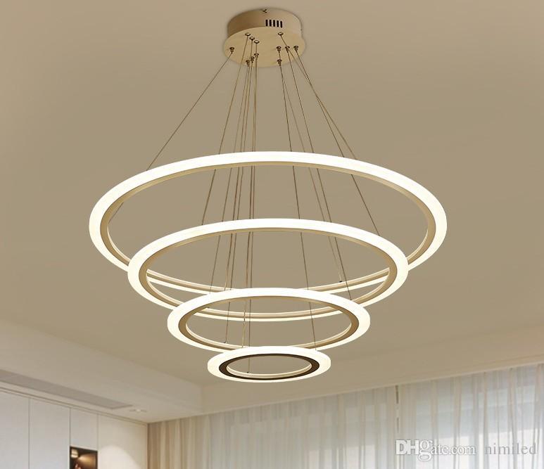 À Led Llfa Manger Plafonnier Suspendu La De Salon Lustre Éclairage Anneau Moderne Pour Acrylique Salle Lampe exdrCBWo