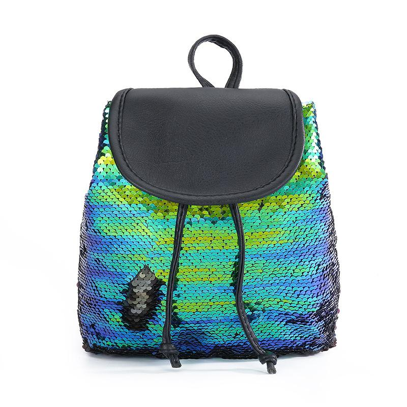 e2b6fac4938a 2018 new mermaid sequin shoulder bag student sequins Mini backpack bag  ladies travel storage backpack travel back pack small