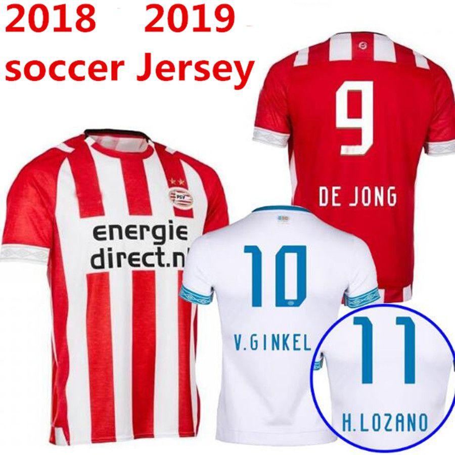 18 19 Camiseta De Fútbol PSV Eindhoven 2018 2019 Local Pereiro Hendrix H.  Lozano L.De Jong Philips GINKEL Sport Vereniging Camiseta De Fútbol Por ... 015e27303d3ea
