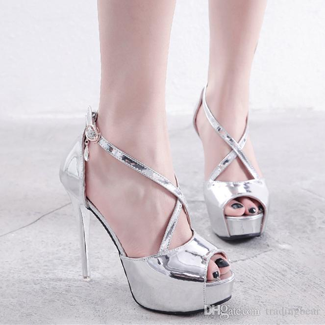 6ae320c771e7 Sparkly Silver Peep Toe Pumps Bridal Wedding Shoes White Luxury Designer  Shoes Size 34 To 39 Women Shoes Boots For Men From Tradingbear, $29.58   DHgate.Com