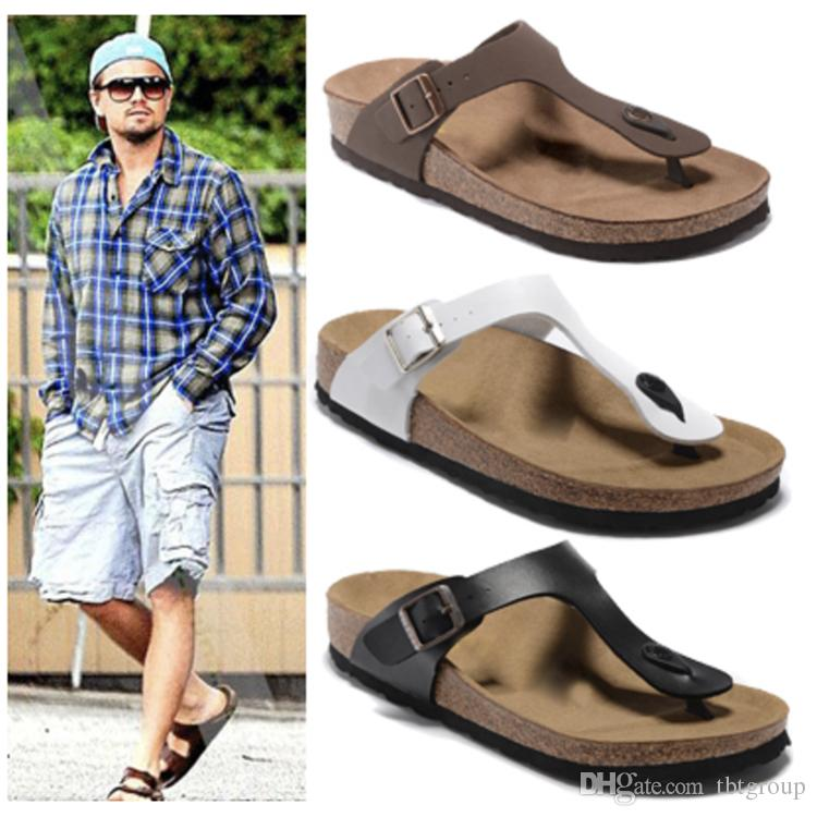 NEW Flip Flops Summer Cork Slipper Clogs sandals for men and women luxury beach couple flip flops Mayari 35-44