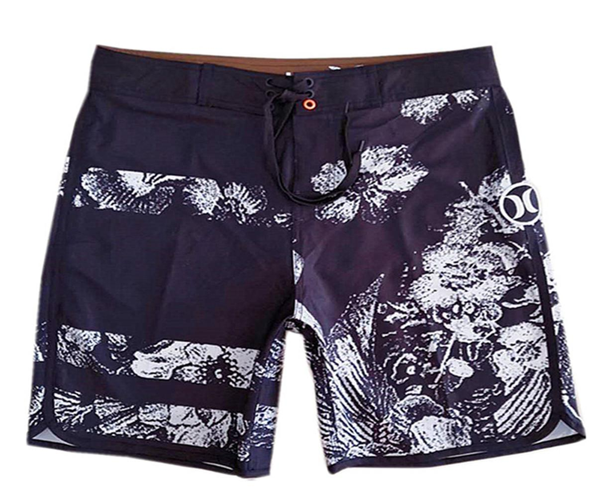 ace495e446 2019 4 Way Stretch Loose Bermudas Shorts Mens Board Shorts Beachshorts Quick  Dry Surf Pants Swim Trunks Swimwear Swim Pants Relaxed Casual Shorts From  ...
