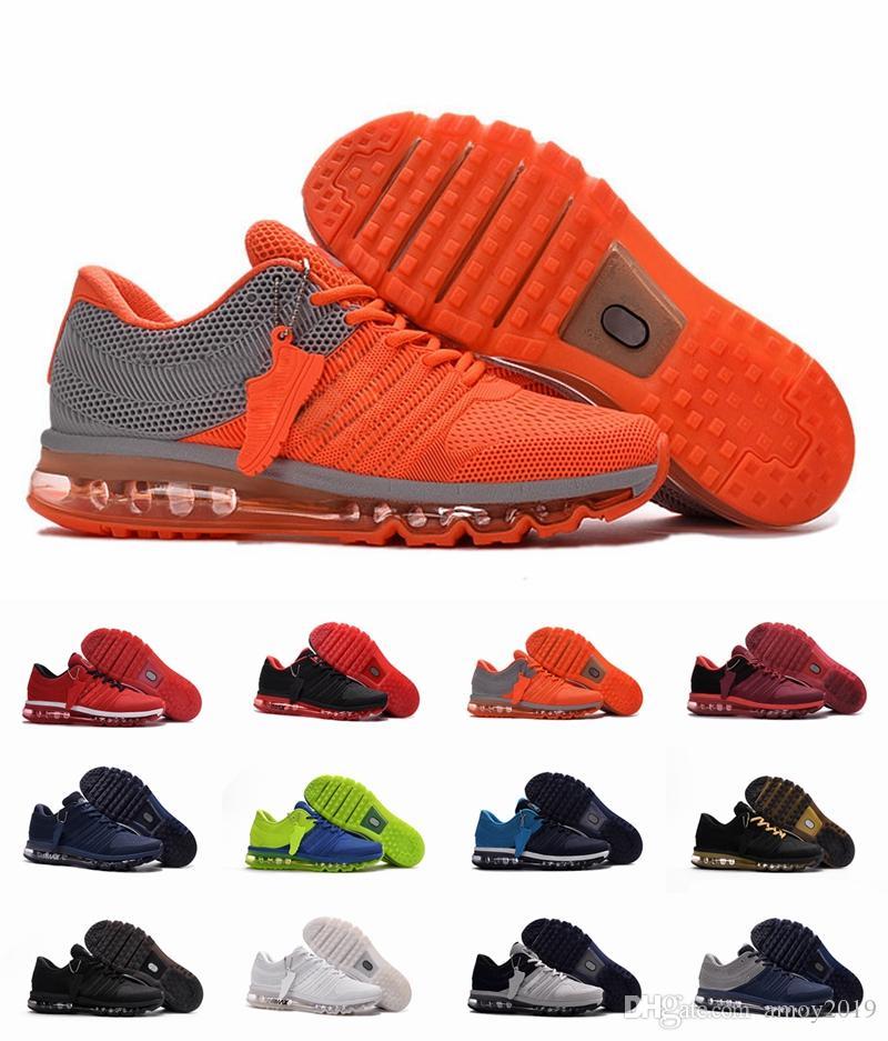 détaillant en ligne db079 e4c08 2019 nike air max airmax Haute Qualité 2017 KPU Hommes Chaussures De Course  Bengale Orange Gris Sports 2017s Hommes Baskets Designer Baskets Taille ...