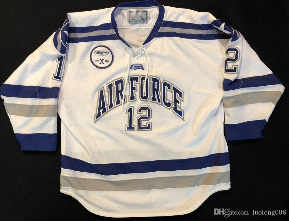 2019 Vintage Air Force Falcons  12 Ben Persian Hockey Jersey Embroidery  Stitched Customize Any Number And Name Jerseys From Luolong008 1ad0657f971
