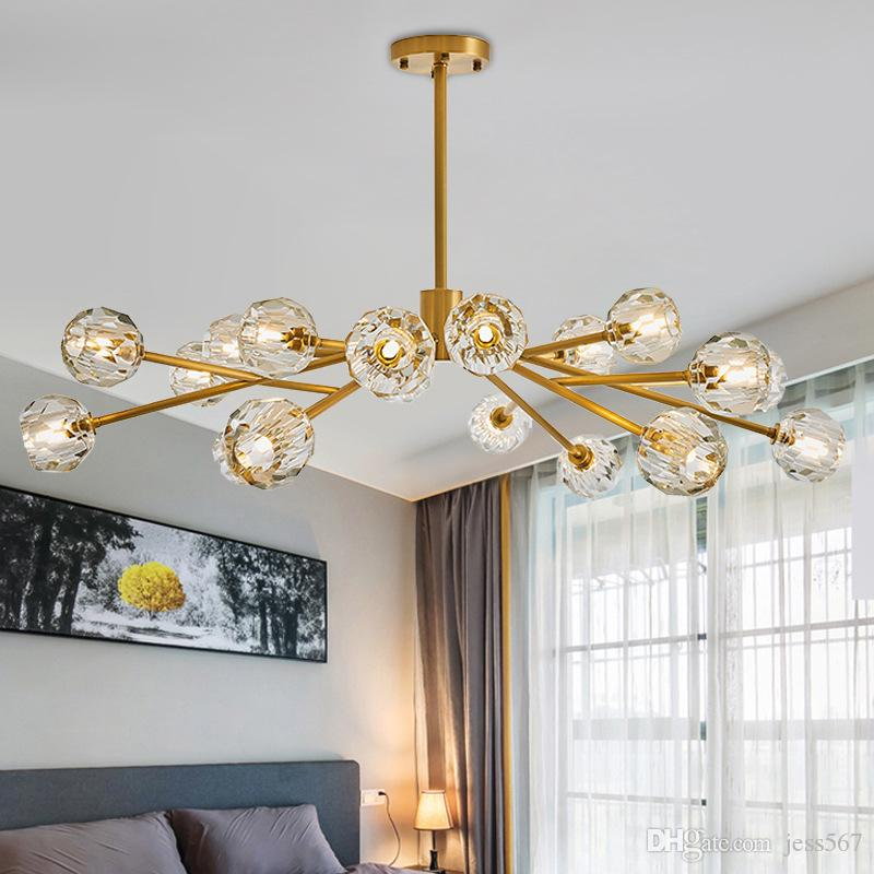 Chandeliers Nordic Chandeliers Colorful Glass Novelty Lamp Bar Shop Europe Dinning Bedroom Hanging Decorated Lighting Fixture G9 Led Bulb