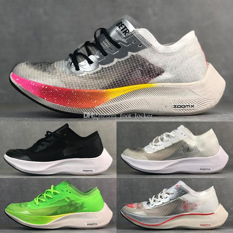 2019 Be True ZOOMX Vaporfly PROCHAIN% Betrue Volt Chaussures de course Enfants Hommes Femmes Rose Green Phantom Red Sneakers