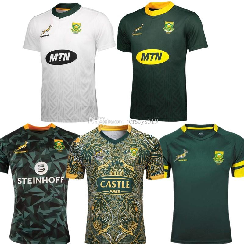 the best attitude 7238c 8d4b0 South African Rugby Union home and away jerseys 2019 2020 national team  World Cup football jersey S-3XL