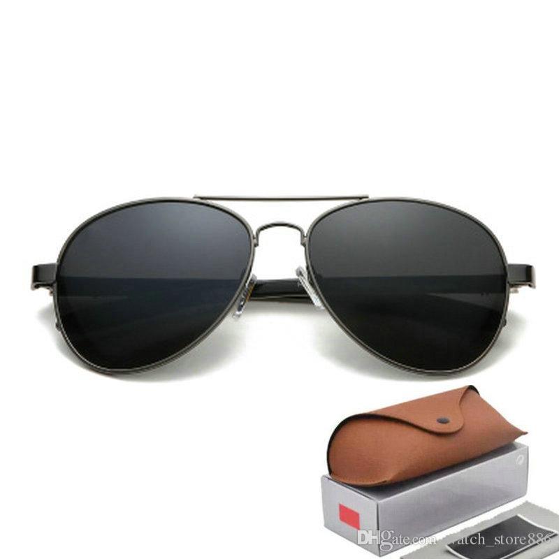 4f86112489197 2019 Ray Brand Polarized Sunglasses Men Women Pilot Sunglasses UV400 Eyewear  Aviator Glasses Driver Bans Metal Frame Polaroid Lens Online with   11.97 Piece ...