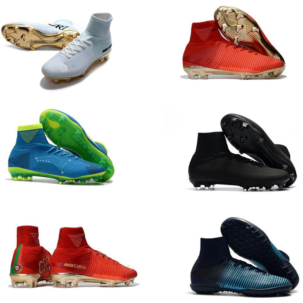 ea05928ff 2019 2018 Original Mercurial Superfly CR7 V FG Football Shoes Cristiano  Ronaldo High Tops Neymar JR ACC Soccer Shoes Magista Obra Soccer Cleats  From ...