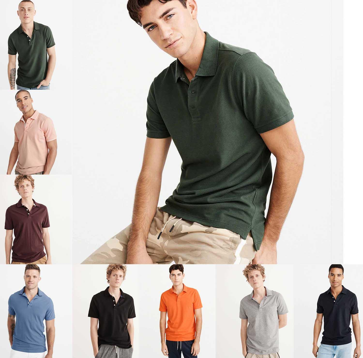 15e6d8162 High Quality PoloShirt Cotton Polo Short Sleeve Camouflage Cotton Summer  Lapel Knit Polo Shirt European And American Style Online Shopping T Shirt  Cool ...