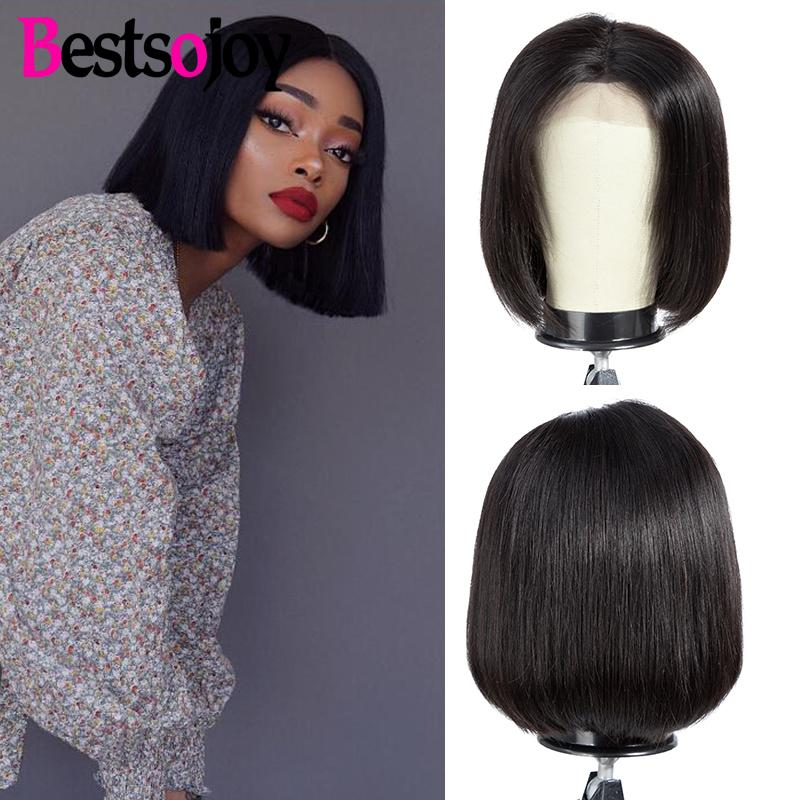 Lace Wigs Bestsojoy Full Lace Front Human Hair Wigs Straight Hair Weave Lace Front Wig Pre Plucked Brazilian Frontal Closure Lace Wig Remy