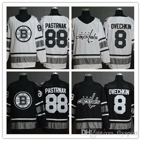 detailed look 8942f 9a121 2019 All-Star Game 88 David Pastr 8 Alex Ovechkin black white Hockey  Jerseys Patrik Laine hotsale