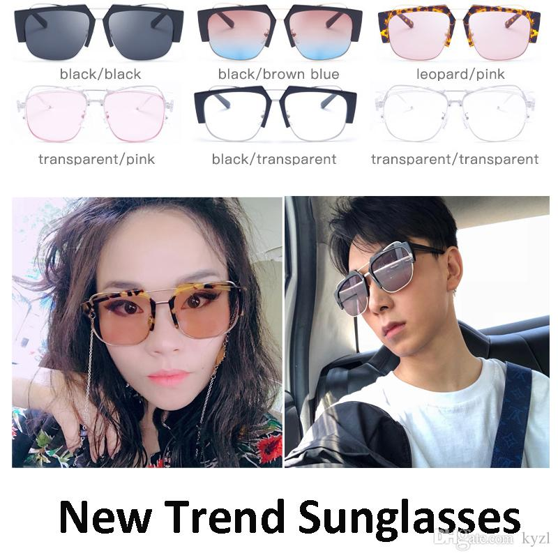 Fashion Punk Square Universal Sunglasses Creative Gradient Colors High-quality Sun Glasses New Trend Prescription Eyewear for Men and Women