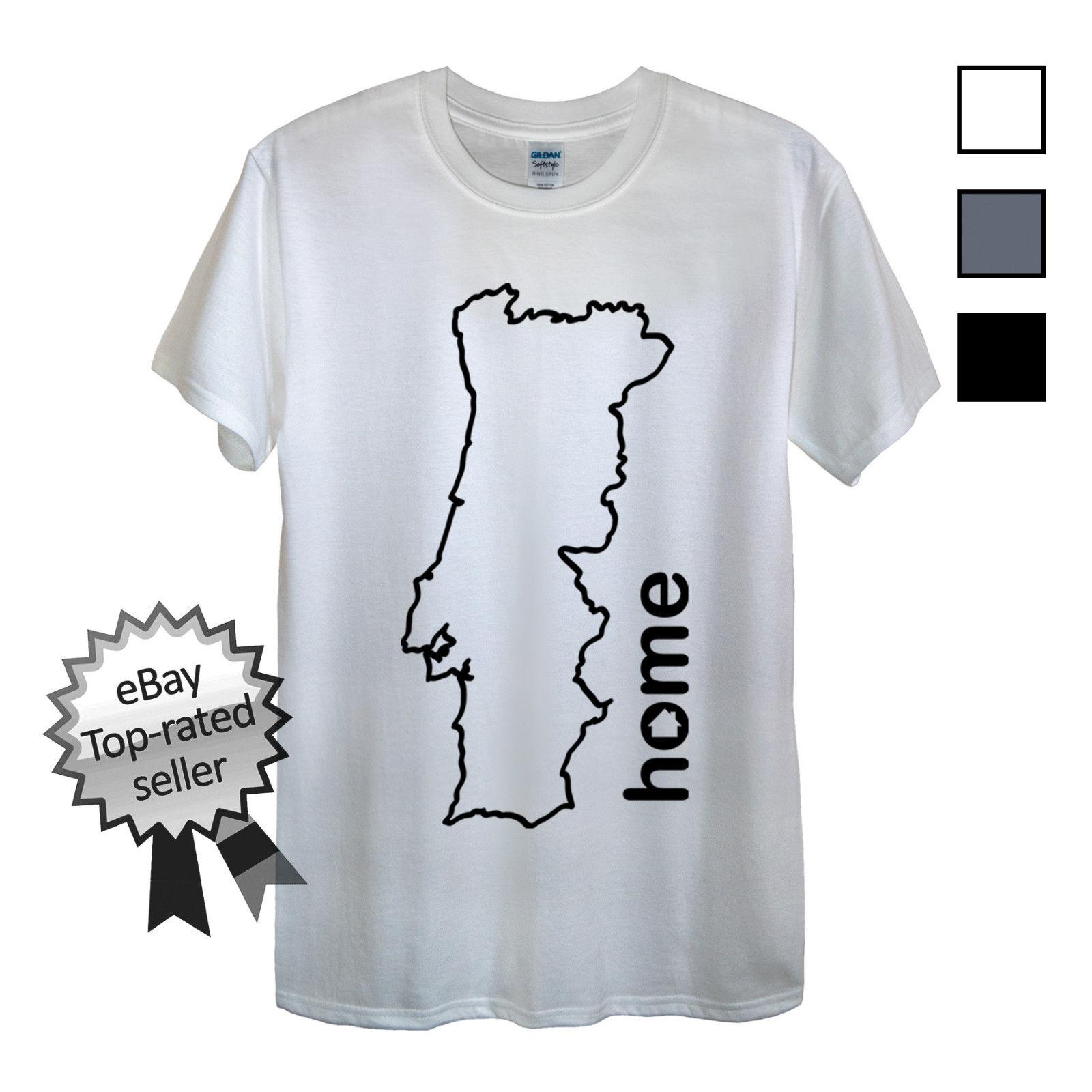 606cda3a PORTUGAL HOME T-Shirt FIND YOUR OWN Country Men OR Women's Portuguese Flag  shirtFunny free shipping Unisex Casual