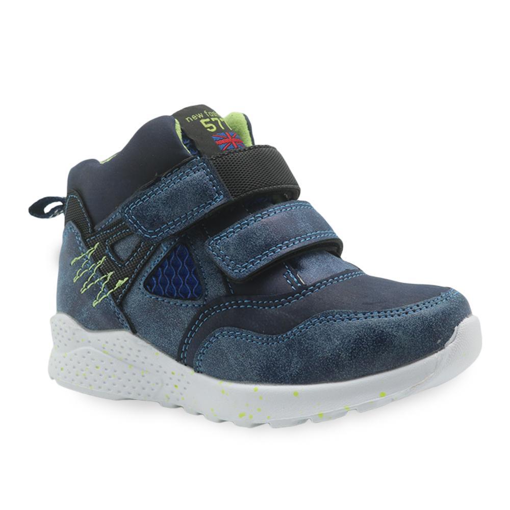 4b9c5315c Compre Apakowa Primavera Outono Sapatos Meninos Ankle Boots De Couro Pu  Para Little Kids Remendado Calçados Infantis Sapatilha Nova Plana Eur 27 32  Y190525 ...