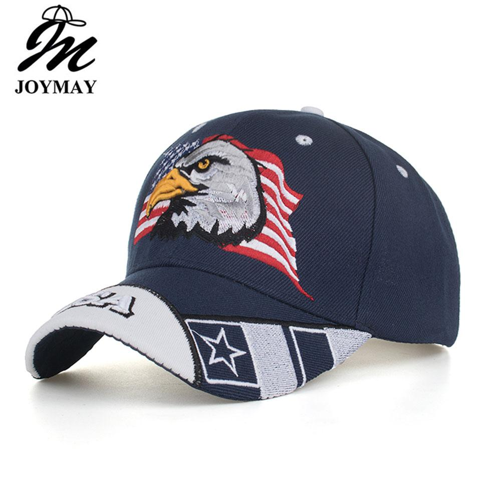 b62a29f0067cd Joymay Black Cap USA Flag Eagle Embroidery Baseball Cap Snapback Caps  Casquette Hats Fitted Casual Gorras Dad Hats For Men B631 Cap Shop Flexfit  Caps From ...