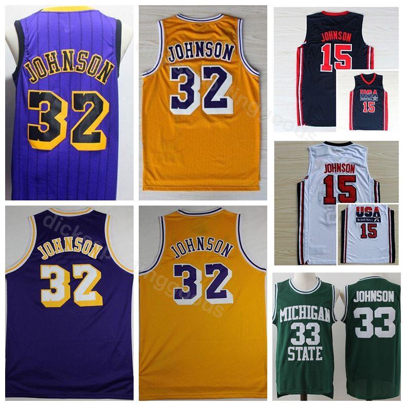 1b291bb66 ... authentic 66a63 1ac77; low price 2018 college men basketball 32 magic  johnson jersey city edition 1992 dream team dream