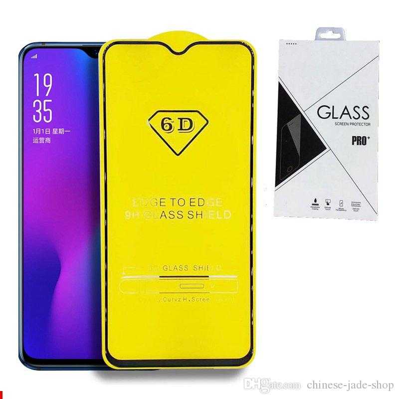 Retail Packing Full Cover 6D 9D Tempered Glass Screen Protector AB Glue Edge to Edge for IPHONE XR XS XS MAX 6 7 8 PLUS 200PCS/LOT