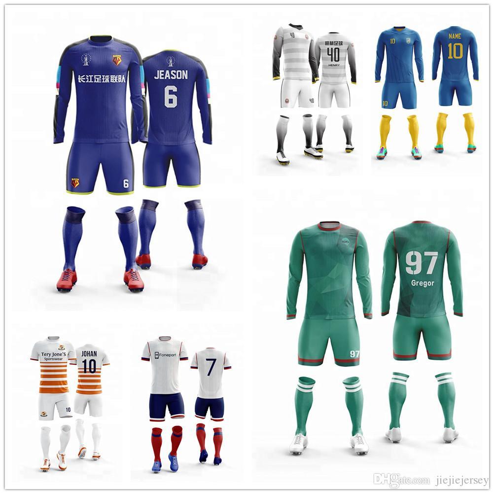 best service 43fba 854f3 Professional Custom Adult Soccer Jerseys Set Uniforms Football Clothes Kit  Cheap Breathable Football Shirt Tracksuit