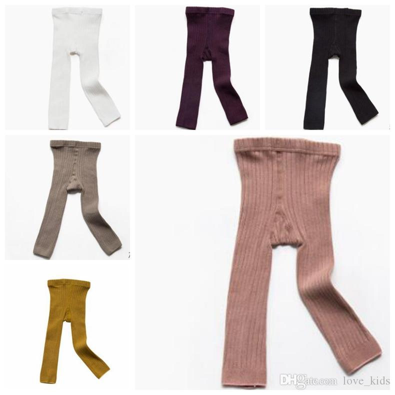 cac68c2fcaa Baby Legging Elastic Kids Tights Solid Color Striped Winter Warm ...