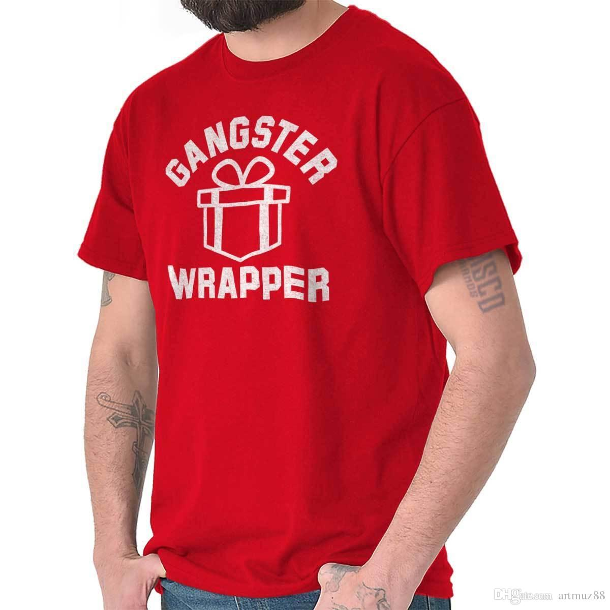 5be98106 OG Gangster Wrapper Present Merry Christmas Holiday Gift T Shirt Tee Funky T  Shirt Design T Shirt Every Day From Artmuz88, $10.76| DHgate.Com
