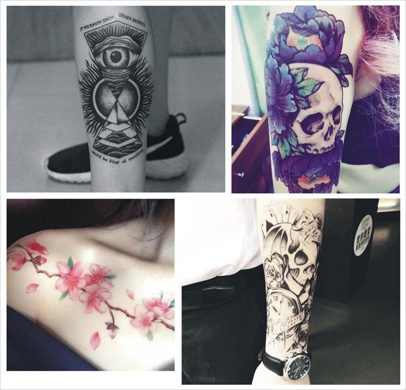 2019 Big Flower Arm Half Arm Tattoo Stickers Manufacturers Wholesale
