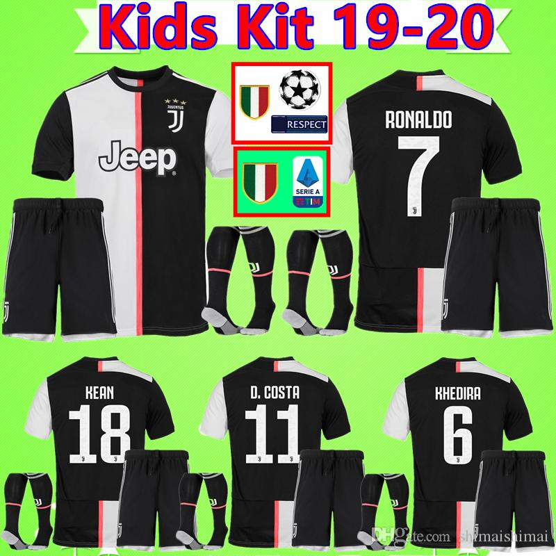 free shipping f778e 0e6d9 Kids Kit RONALDO DYBALA 19 20 NEW soccer jersey juventus football shirt set  MANDZUKIC child CHIELLINI Camiseta 2019 2020 boys suit maillot