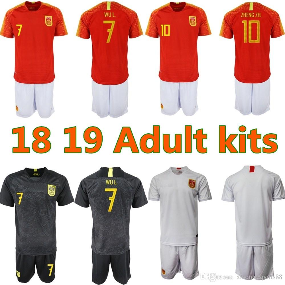 27d7677bd 2019 2018 2019 Adult Kits Chinese Black Dragon Soccer Jersey Black Football  Jersey The China National Team Black Dragon National Football Uniform From  ...