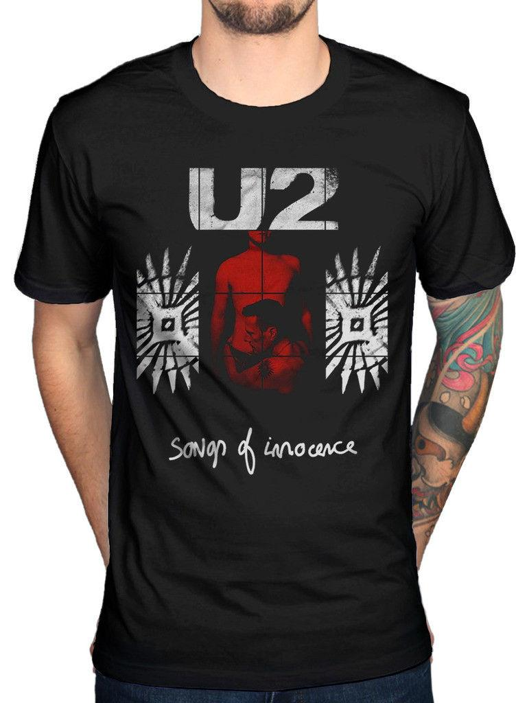 Official U2 Songs Of Innocence Red Shade T-Shirt Achtung Baby The Joshua  Tree