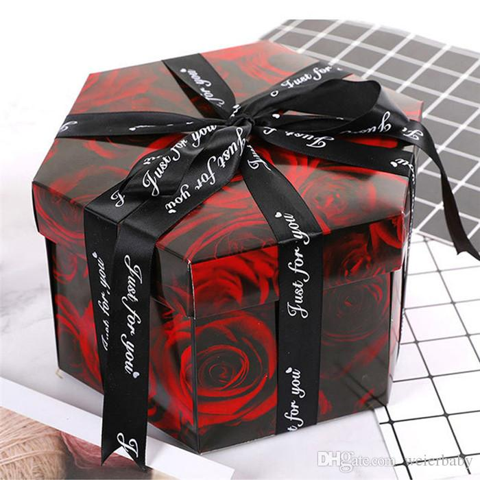 DIY Surprise Love Explosion Box Gift 38 Switch For Anniversary Scrapbook Photo Album Birthday 6 Angle Wrapping Paper Boys