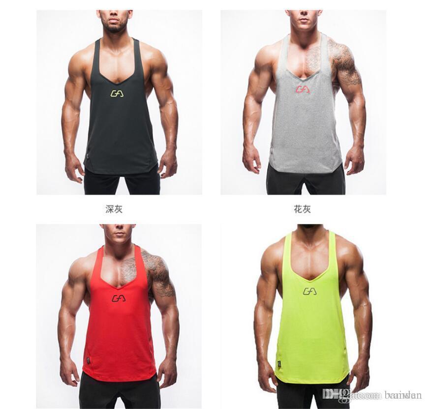 2ec7b7be4e691 New Yms Mens Tank Tops Stringer Bodybuilding Equipment Fitness Men s ...