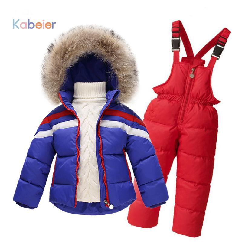 c7402e1db 2019 Children Winter Clothing Set Boys Ski Suit Girl Down Jacket ...