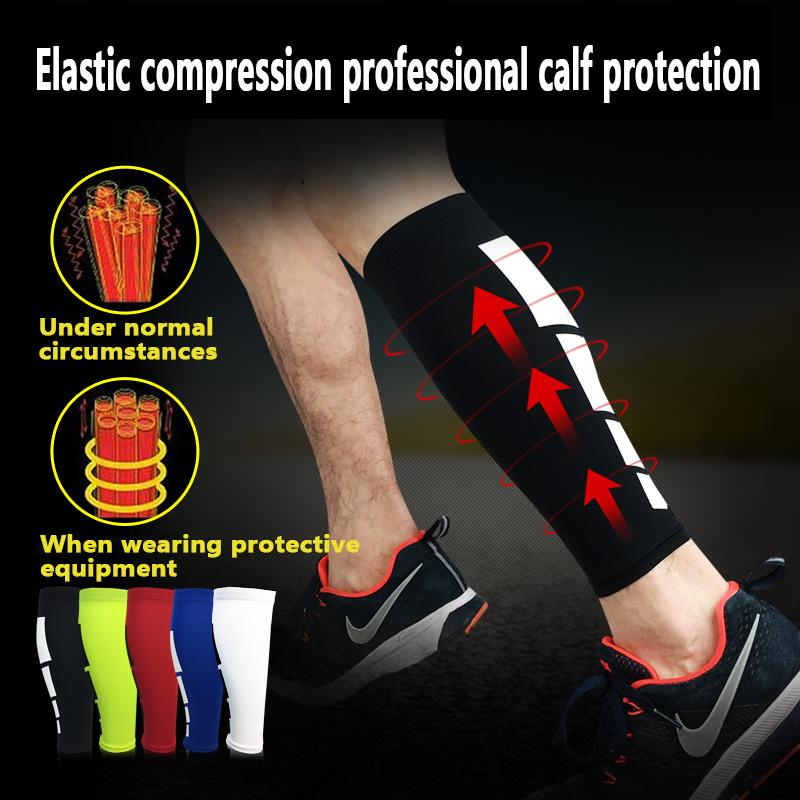 Deporte de manga larga rodilleras pata de apoyo calcetines de la manera de los nuevos hombres venas varicosas Becerro compresión Brace