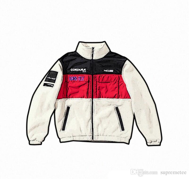 2019 Brand Expedition Fleece Sup Jacket Men And Women Standing Collar  Jacket Winter Warm Coat High Quality From Supremetee a6b3e96deb5a8