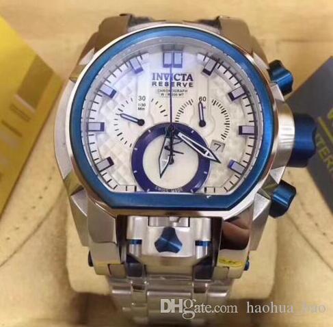 84d1a7704ea Compre 2019 Novos Relógios De Luxo Reserva Zeus Magnum Suíça Azul Aço Dual  Movement Novo Relógio Frete Grátis De Haohua bao