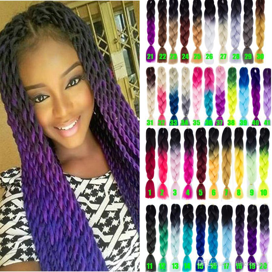 Free Shipping 1 pcs Synthetic Ombre Braiding